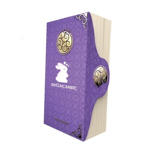 Фиолетовый вибратор MAGIC TALES SPELLING RABBIT со спиралью на стволе - 22,5 см. - Toyz4lovers